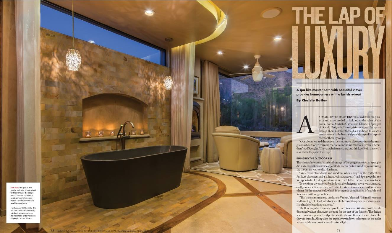 Fantastic Kitchen And Bath Business Magazine Cover Features Dorado Home Interior And Landscaping Mentranervesignezvosmurscom